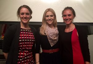 Maiken Wiese, Kirsten Haglund, and Annie Robinson of the EDRS team